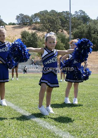 Rocklin Junior Thunder Mascot Cheer