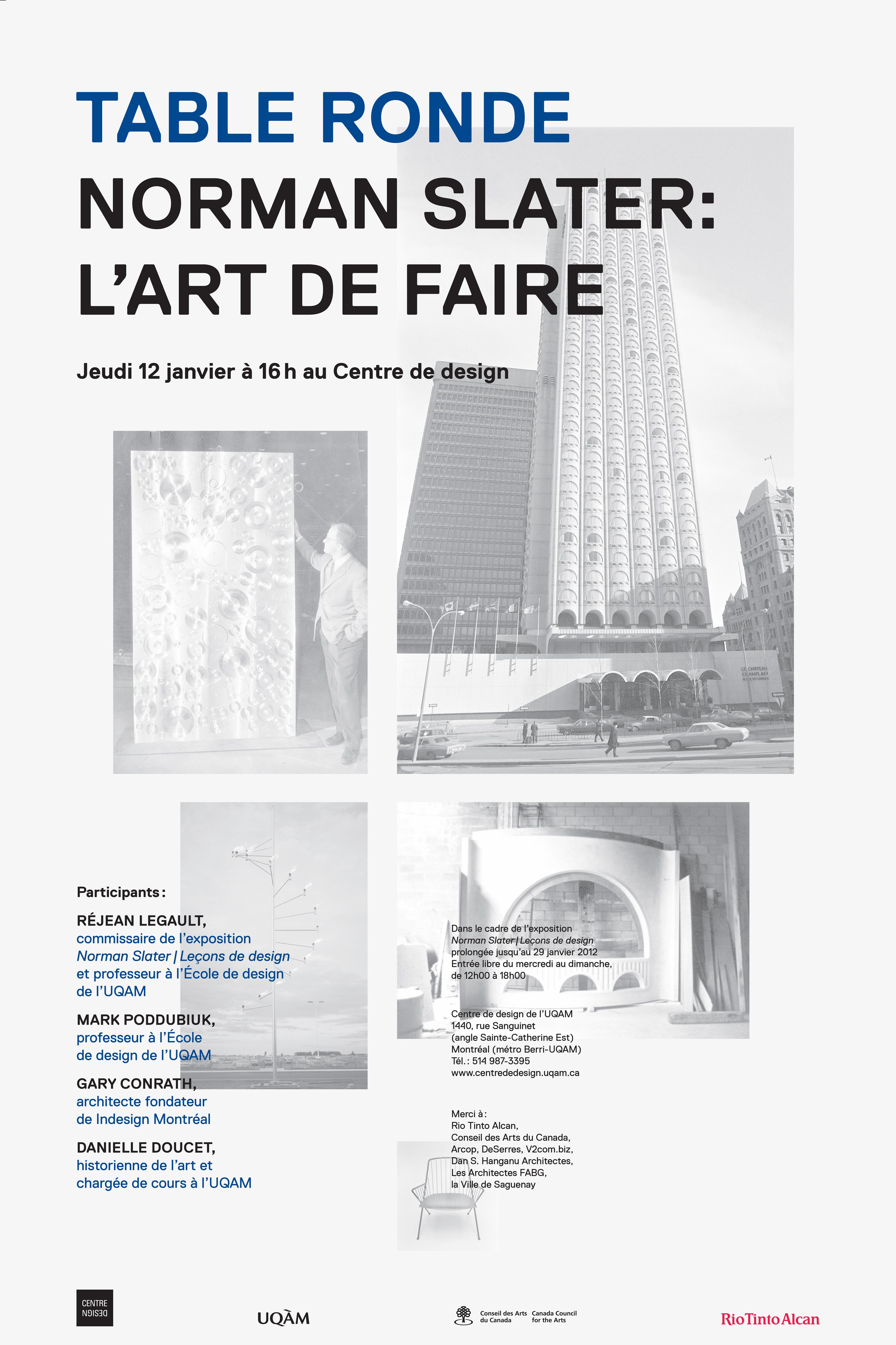 2012 - Événement - Table ronde Norman Slater L'art de faire ©Emmelyne Pornillos et Amandine Guillard
