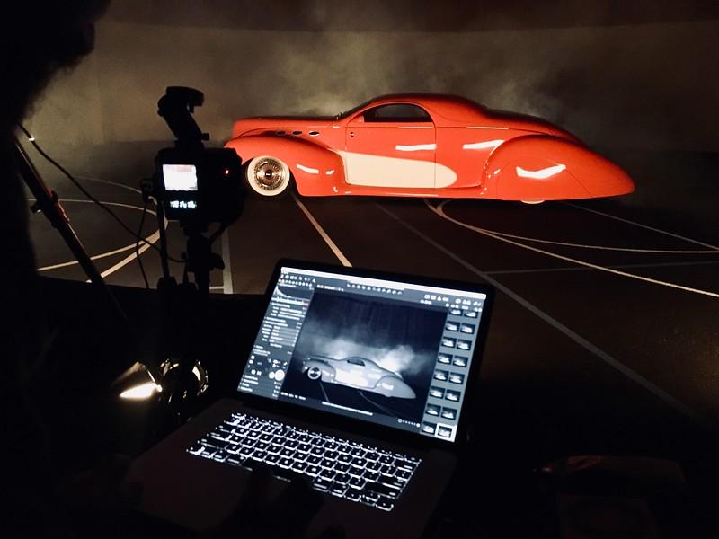 Advertisement Automotive Photographer Marcello Rostagni BTS from HAN Automotive Photography Shoot