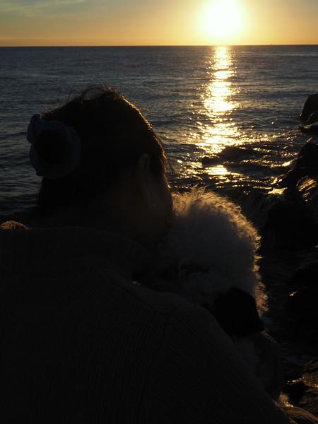 Lori Oscar sunset.JPG