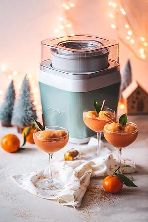 Cocktail Mimosa au sherbet de clémentines