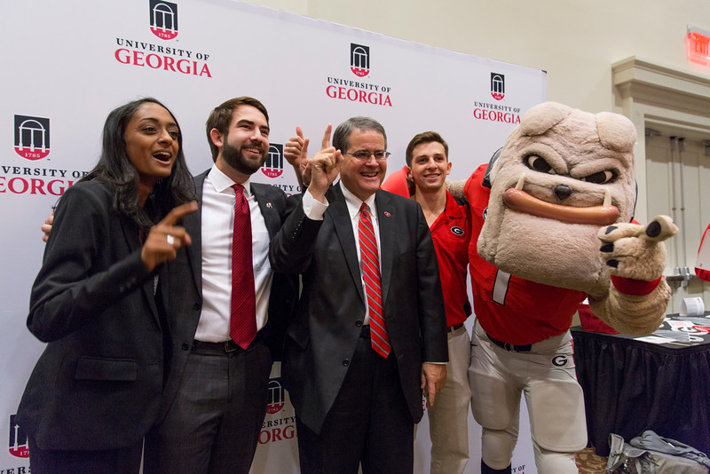 Description: Capital Campaign Campus KickoffDate of Photo: 11/10/2016Credit: Andrew Davis Tucker, University of GeorgiaPhotographic Services File: 34401-075The University of Georgia owns the rights to this image or has permission to redistribute this image. Permission to use this image is granted for internal UGA publications and promotions and for a one-time use for news purposes. Separate permission and payment of a fee is required to use any image for any other purpose, including but not limited to, commercial, advertising or illustrative purposes. Unauthorized use of any of these copyrighted photographs is unlawful and may subject the user to civil and criminal penalties. Possession of this image signifies agreement to all the terms described above.