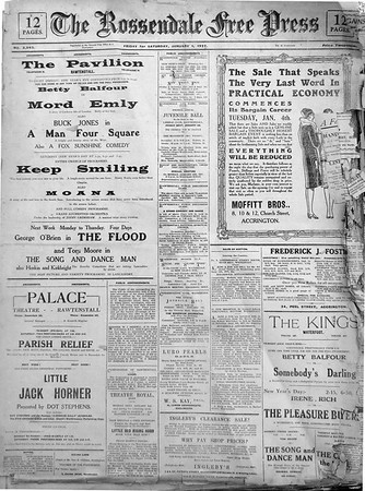 Free Press, 1927