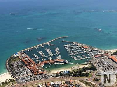 Helicopter view of Hillarys Boat Harbour