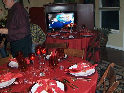 Christmas dinner with Ron & Lori 2012