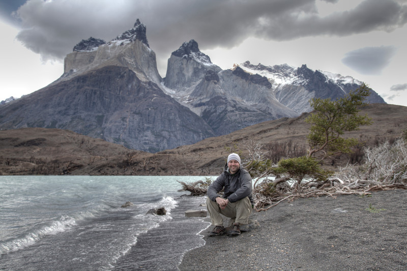 Self-portrait, Torres del Paine National Park, Chile. (HDR)