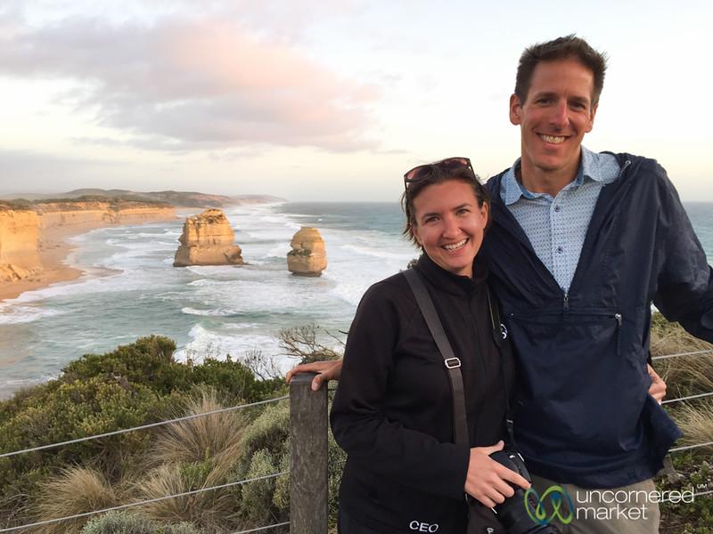 Enjoying the 12 Apostles, Great Ocean Road - Victoria, Australia