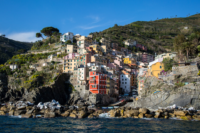 Riomaggiore view from the sea