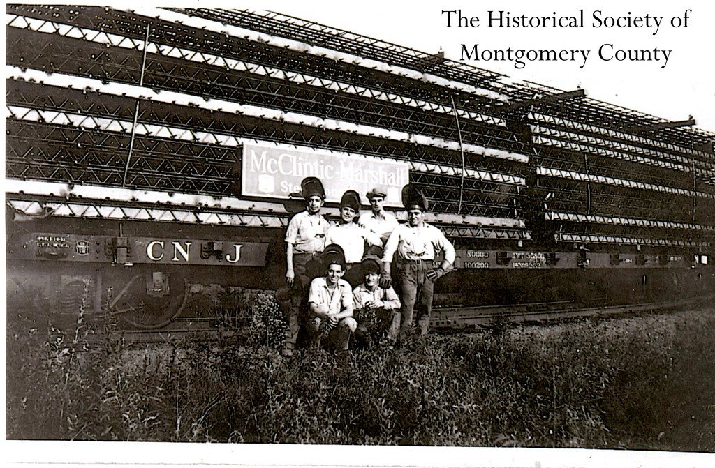 . This photo from the Historical Society of Montgomery County shows McClintic Steel in Pottstown c. 1933.