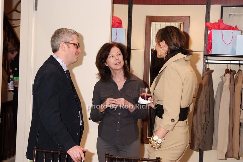Robert Booz, Patricia Harrington,Frances Schultz photo by Rob Rich © 2008 robwayne1@aol.com 516-676-3939