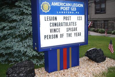 Man of the Year, Vince Spisak, Lansford American Legion, Lansford (5-26-2012)