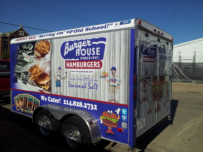 Burger House Catering Trailer, Dallas, TX