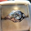 .80ct Vintage Old European Cut Diamond Dome Ring 4