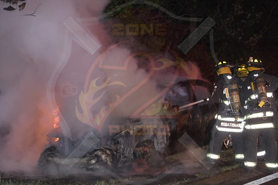 North Massapequa F.D. Car Fire   Southern State Parkway and Route 135 8/7/15