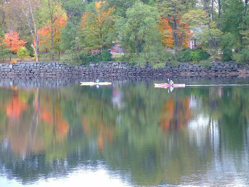 Kayaking along the Merrimack River