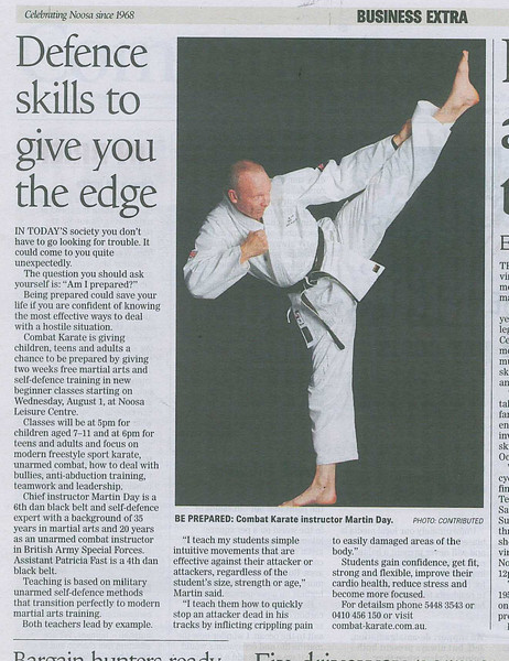 Noosa News 17 July 2012 - Business Extra. Martin Day's Defence skills to give you the edge.