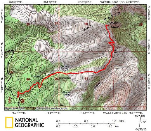 Mount Taylor 4.29.13