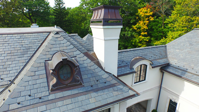 Natural Slate Roofing Project in Highland Park, IL