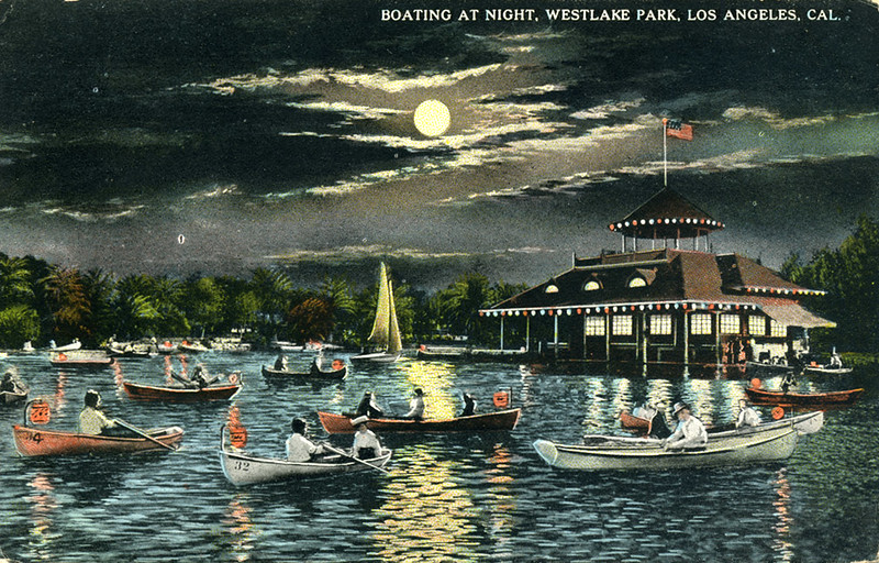 Boating at Night in Westlake Park