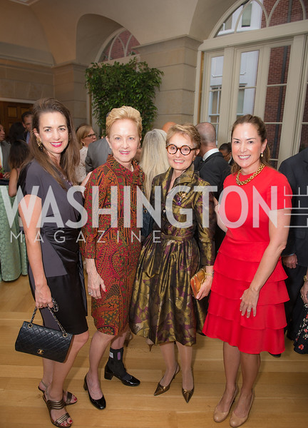 Gwen Holliday, Ann Stock, Toni Gore, Lee Satterfield,50th Annual Meridian Ball Leadership Committee Reception at the Blair House, co-hosted with Ambassador Sean P. Lawler.  September 13, 2018, Photo by Ben Droz.