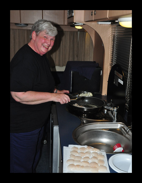 Cooking in the RV - Australia - 2011.JPG