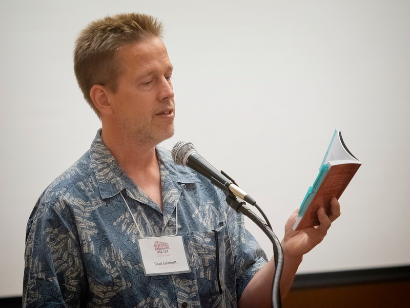 Brad Bennett reads from his book, A Turn in the River.