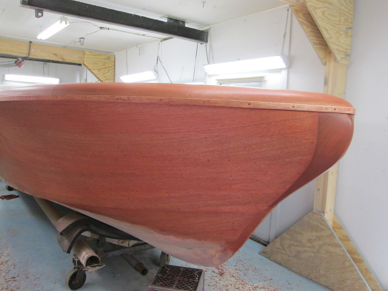 Starboard front with stain applied.