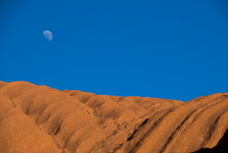 Uluru and Moon 5 - Northern Territory, Australia