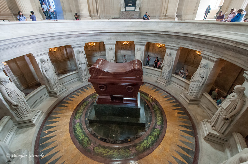 Inside les Invalides, the tomb of Napoleon