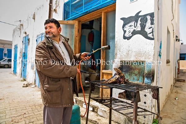 TUNISIA, Djerba, Hara Kebira. Kosher butchery (3.2016)