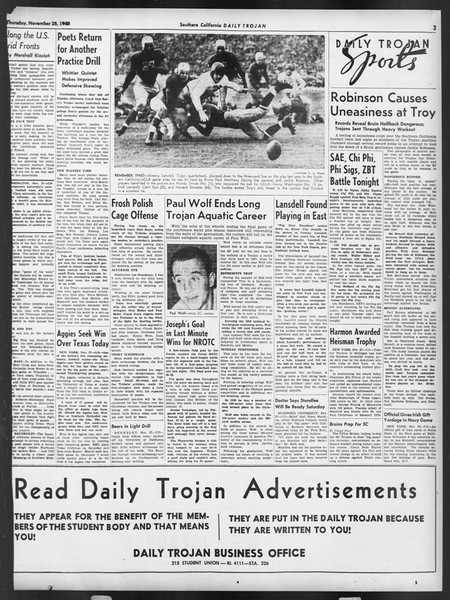 Daily Trojan, Vol. 32, No. 51, November 28, 1940