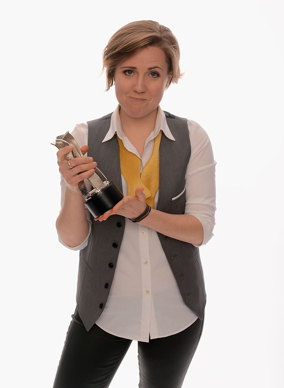 . Internet personality Hannah Hart poses for a portrait in the TV Guide Portrait Studio at the 3rd Annual Streamy Awards at Hollywood Palladium on February 17, 2013 in Hollywood, California.  (Photo by Mark Davis/Getty Images for TV Guide)