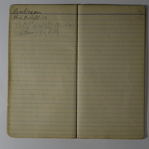 AC Stebbins Expense book Undated
