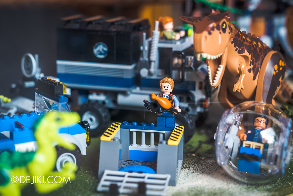 Universal Studios Singapore Park Update - Jurassic World Explore and Roar - Jurassic Park LEGO display