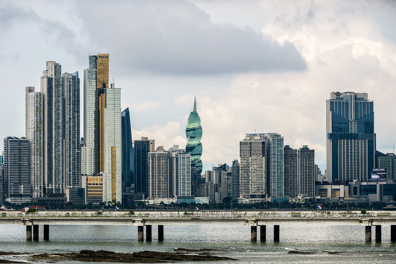 Modern skyline in Panama City, Panama.
