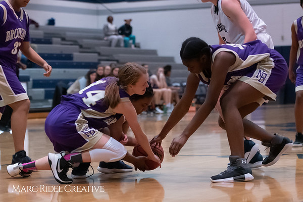 Broughton JV girls basketball vs Millbrook. January 22, 2019. 750_5621