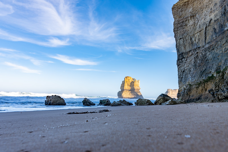 An early morning in autumn at Gibson Steps on the Shipwreck Coast, near Port Campbell, Victoria.