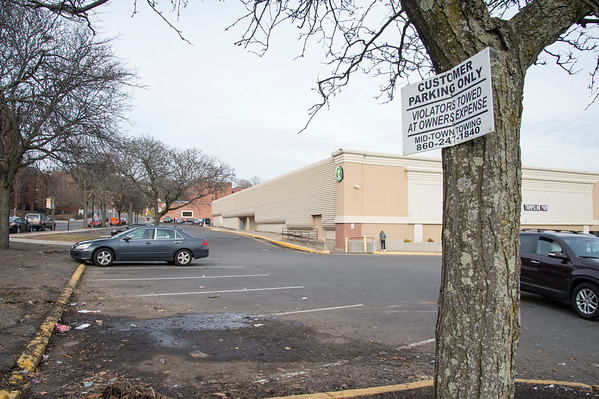 01/14/20 Wesley Bunnell | Staff Parking spaces on the side of New Brite Plaza bordering Main St.