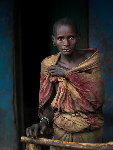 A portrait of a Suri woman in Kibish.  kibish, Southern Ethiopia, 2017.