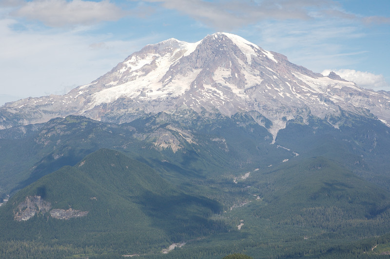 Mt Rainier as seen from a viewpoint just below the lookout.