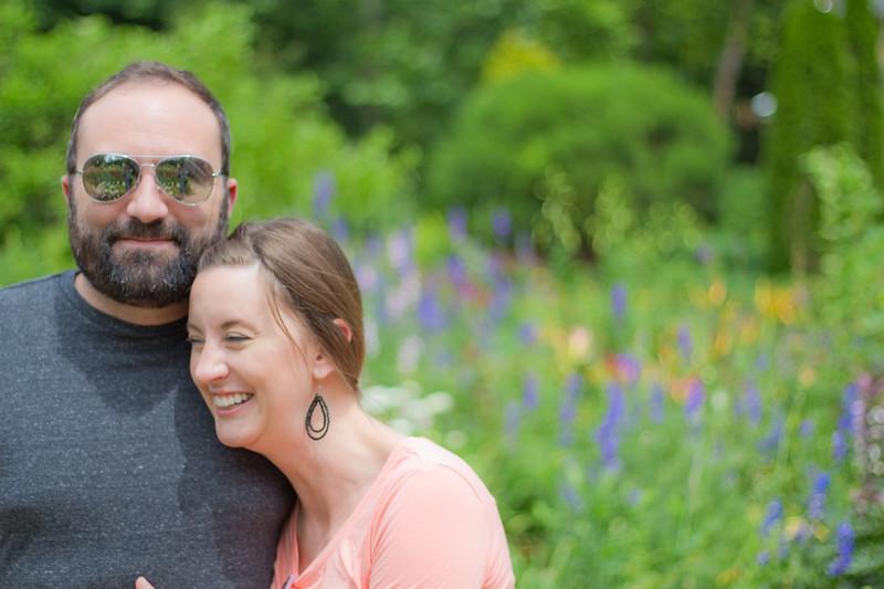 At the Garden, Nate and Sareen