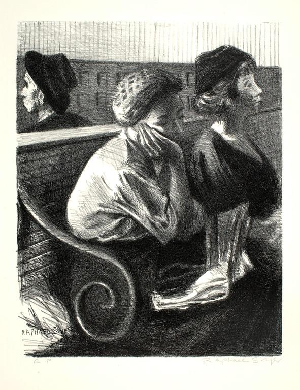 "Raphael Soyer, ""Railroad Waiting Room"" (n.d.)"