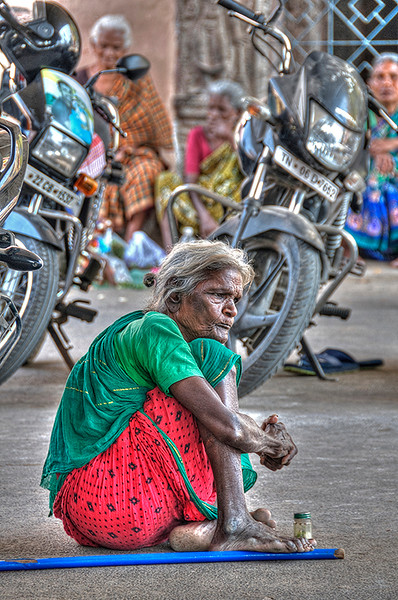 Street Beggar in Chennai