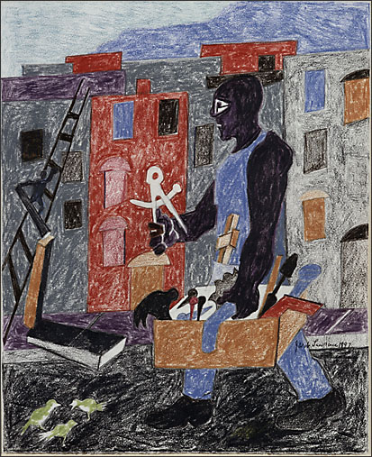 "Jacob Lawrence, ""Untitled [Worker With Tools]"" (1997)"