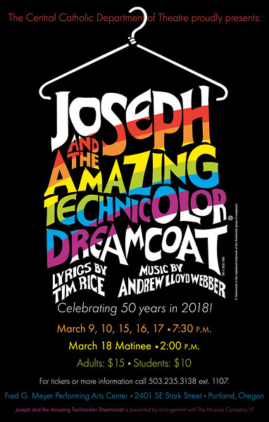 Spring 2018 - Joseph and the Amazing Technicolor Dream Coat