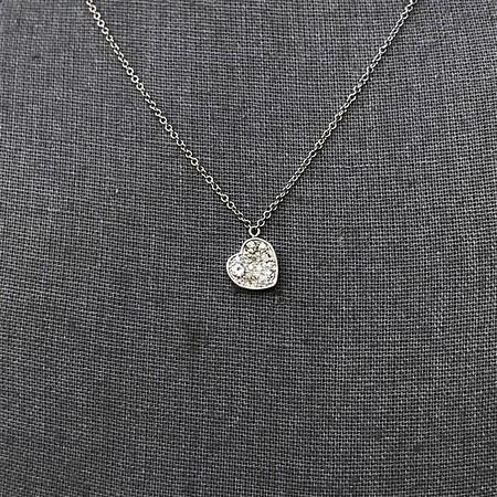 .64ctw Heart Askew Diamond Mosaic Pendant, White Gold Askew Pendant