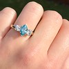 1.73ctw Blue Marquise Cut Diamond Trilogy Ring 18