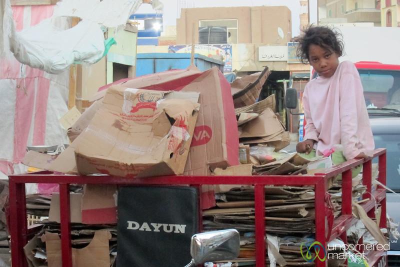 Egyptian Girl at the Hurghada Market - Egypt