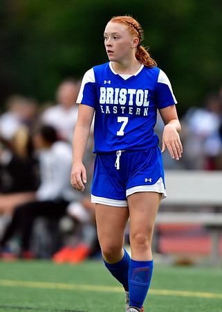 9/12/2019 Mike Orazzi | Staff Bristol Eastern's Lili Morneault (7) during girls soccer under the lights on Thursday at Eastern.