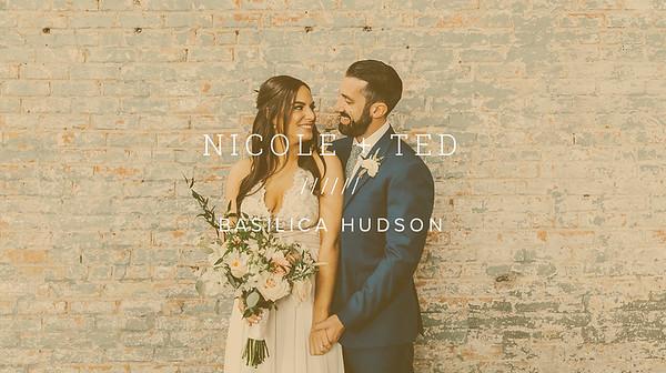 NICOLE + TED ////// BASILICA HUDSON